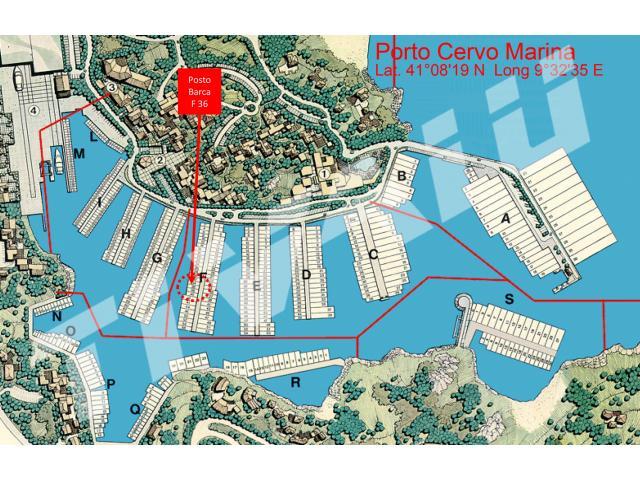 BERTH PORTO CERVO F36 – 15 mt Costa Smeralda, Sardinia,  Italy