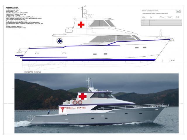 New 22.oo Meter Hospital Boat